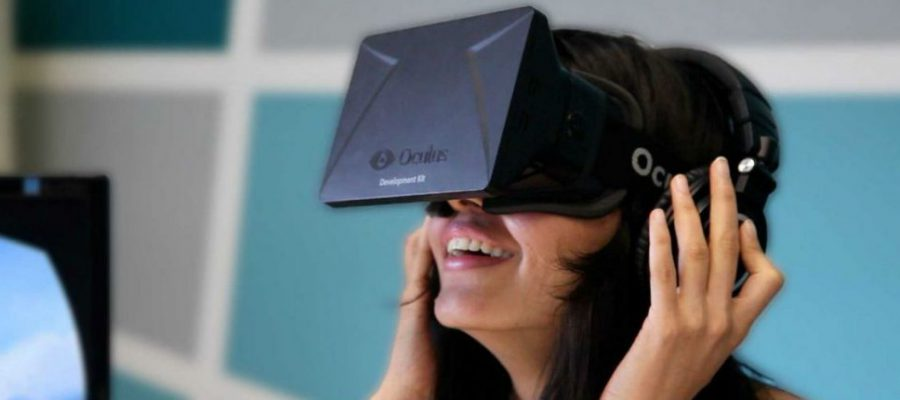 Woman in Oculus Rift VR set